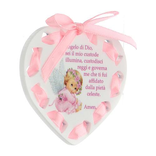Coeur ruban rose prière 2