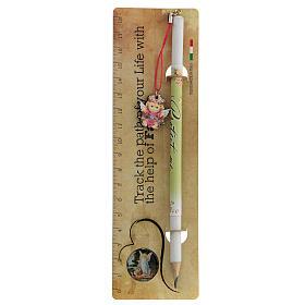 Souvenir rose crayon et règle ANGLAIS s1