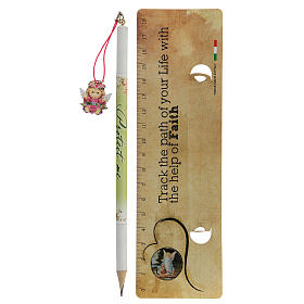 Souvenir rose crayon et règle ANGLAIS s2