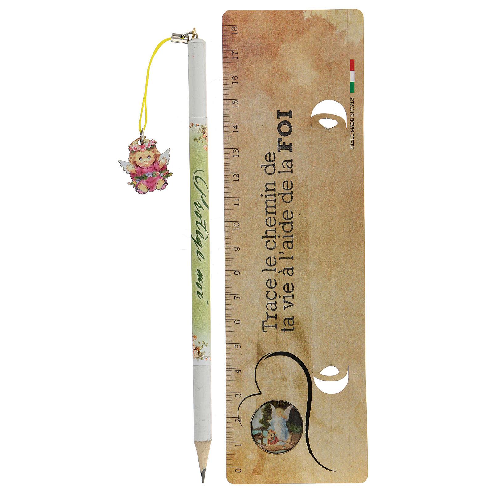 Souvenir rose crayon et règle FRANÇAIS 3