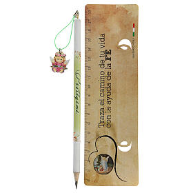 Souvenir rose crayon et règle ESPAGNOL s2