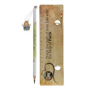 Souvenir bleu crayon et règle ANGLAIS s2