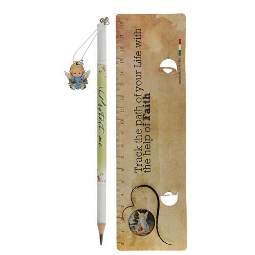 Souvenir bleu crayon et règle ANGLAIS 2