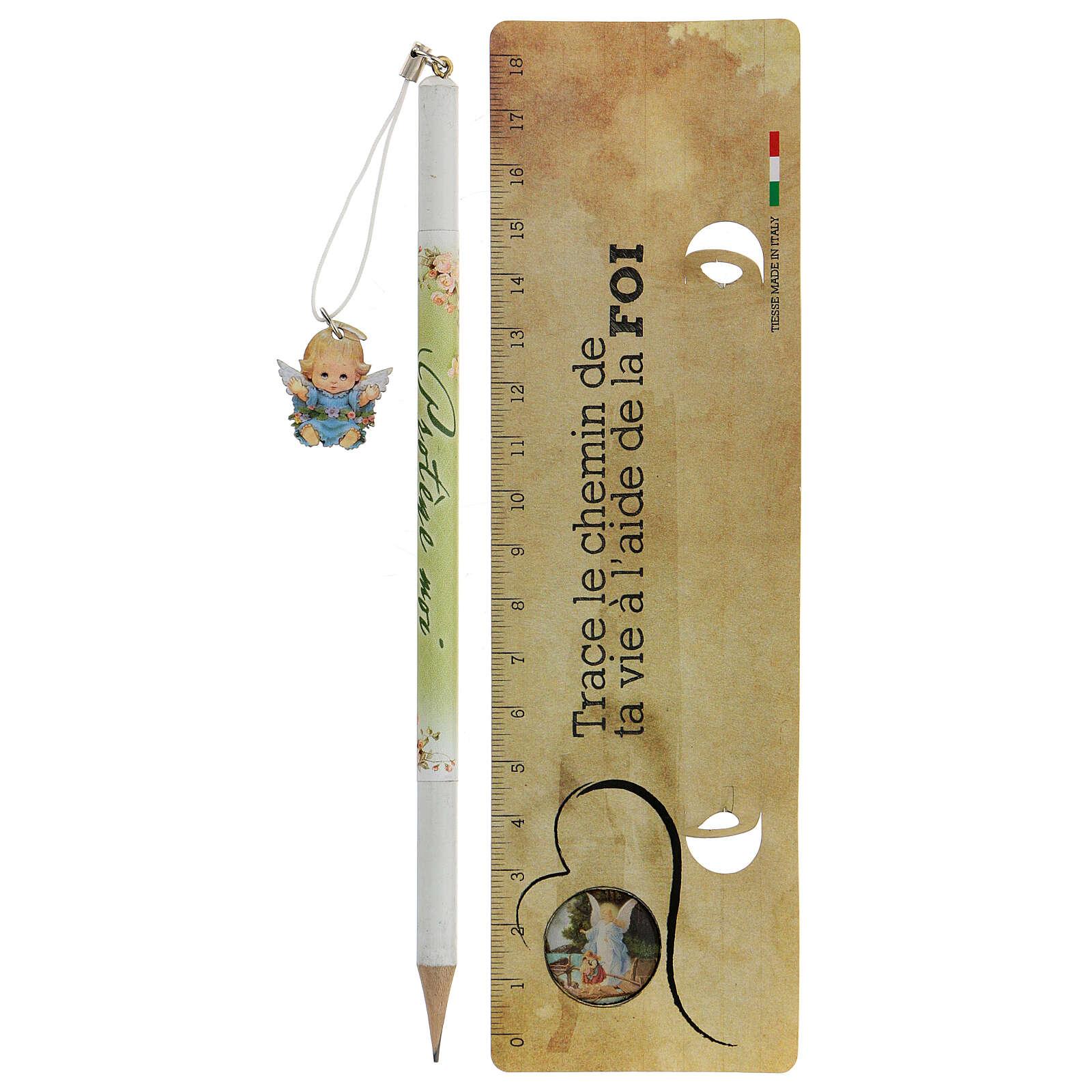 Souvenir bleu crayon et règle FRANÇAIS 3