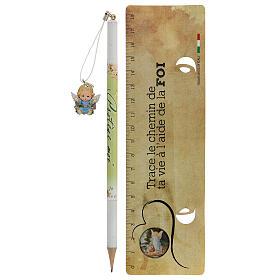 Souvenir bleu crayon et règle FRANÇAIS s2