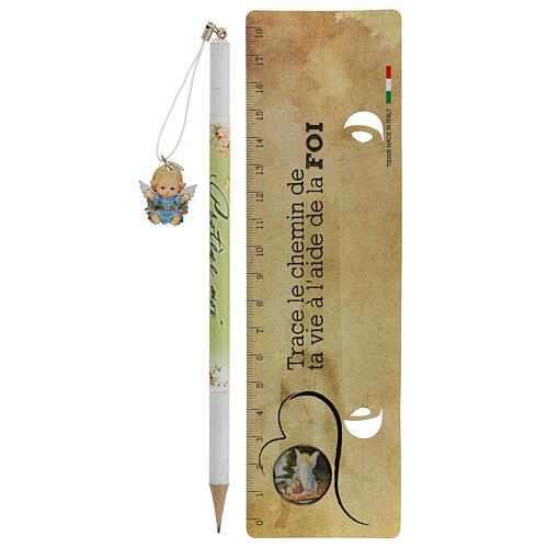 Souvenir bleu crayon et règle FRANÇAIS 2