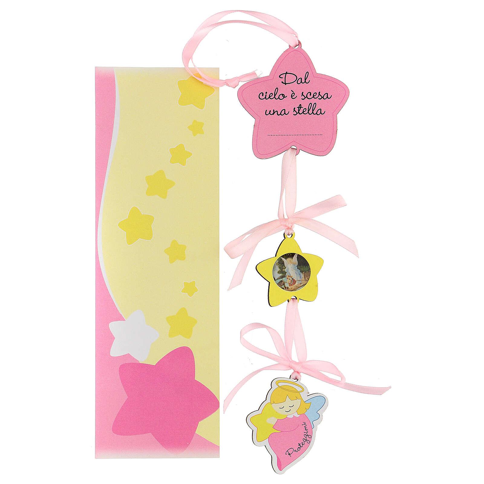 Médaille berceau étoile fille 3