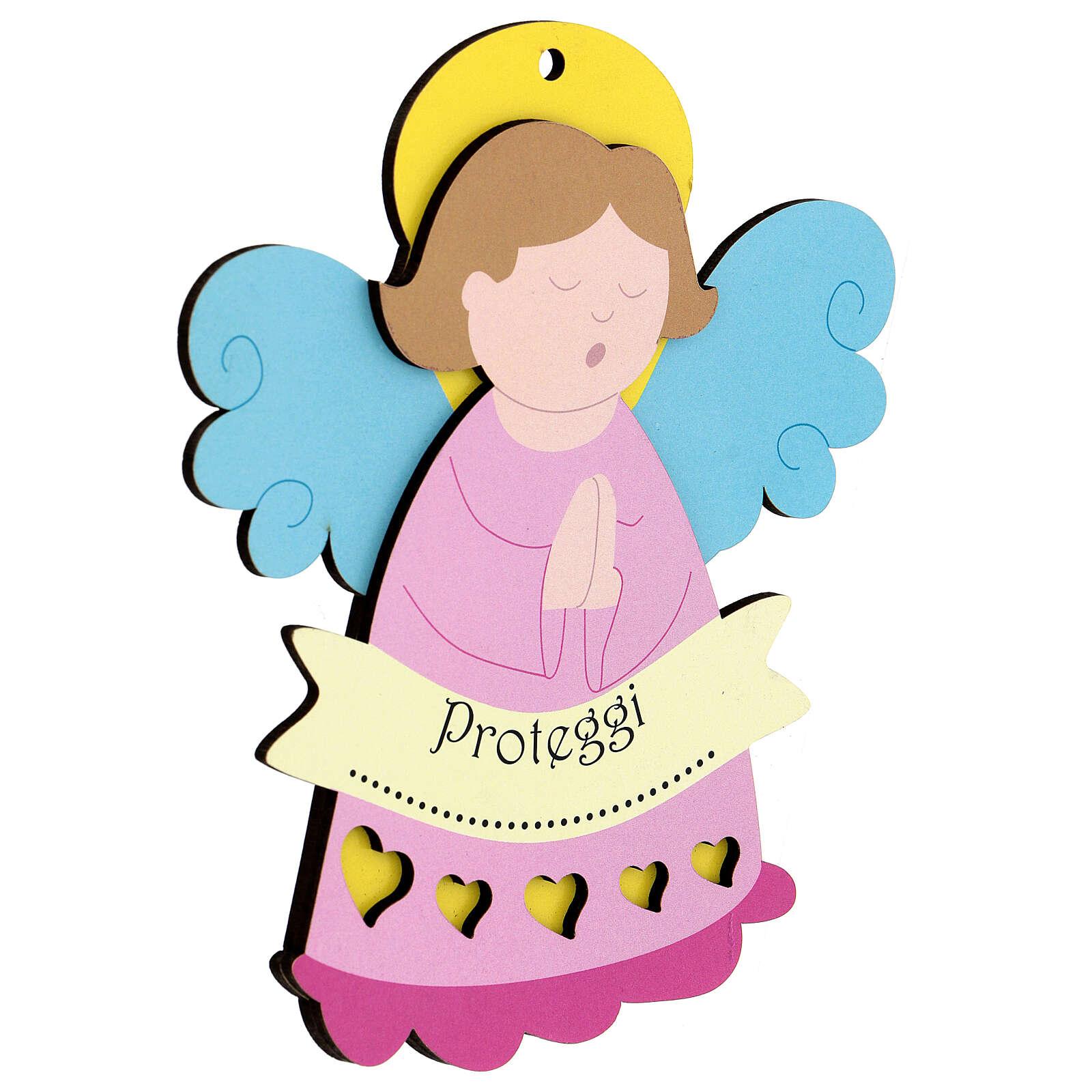 Ricordino bimba Angelo rosa 3