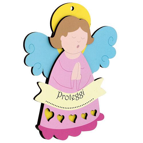 Ricordino bimba Angelo rosa 2