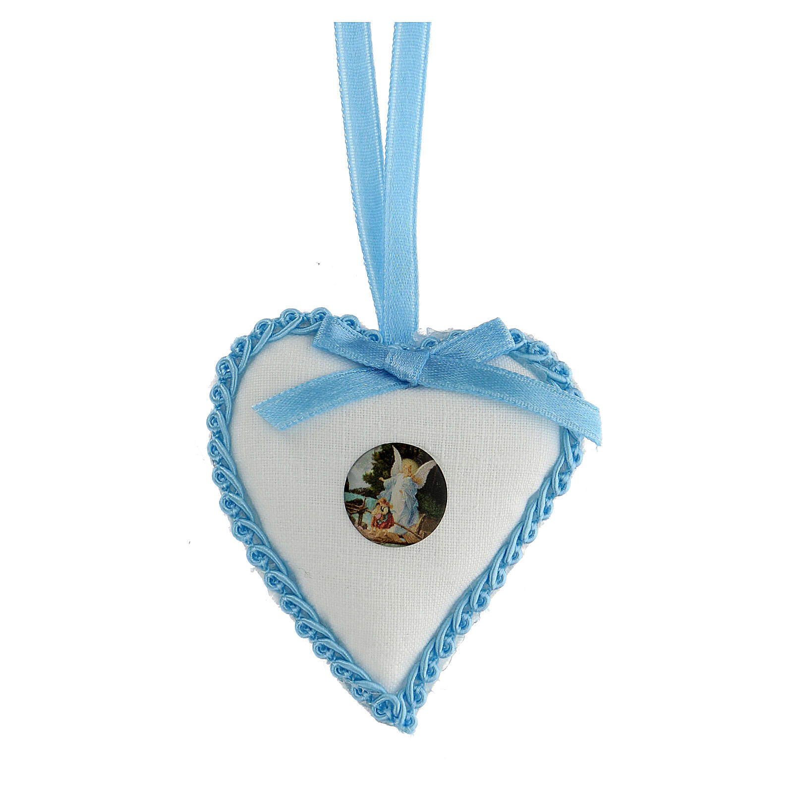 Heart cockade with Angel for cradle 4