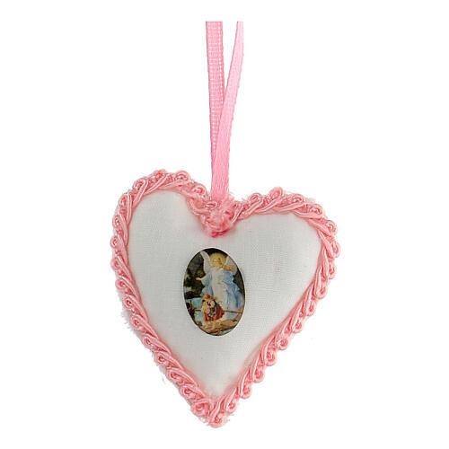 Escarapela corazón Ángel niña 1