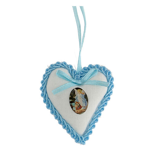 Ricordino coccarda cuore Angelo bimbo 1