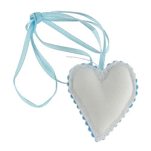 Ricordino coccarda cuore Angelo bimbo 3