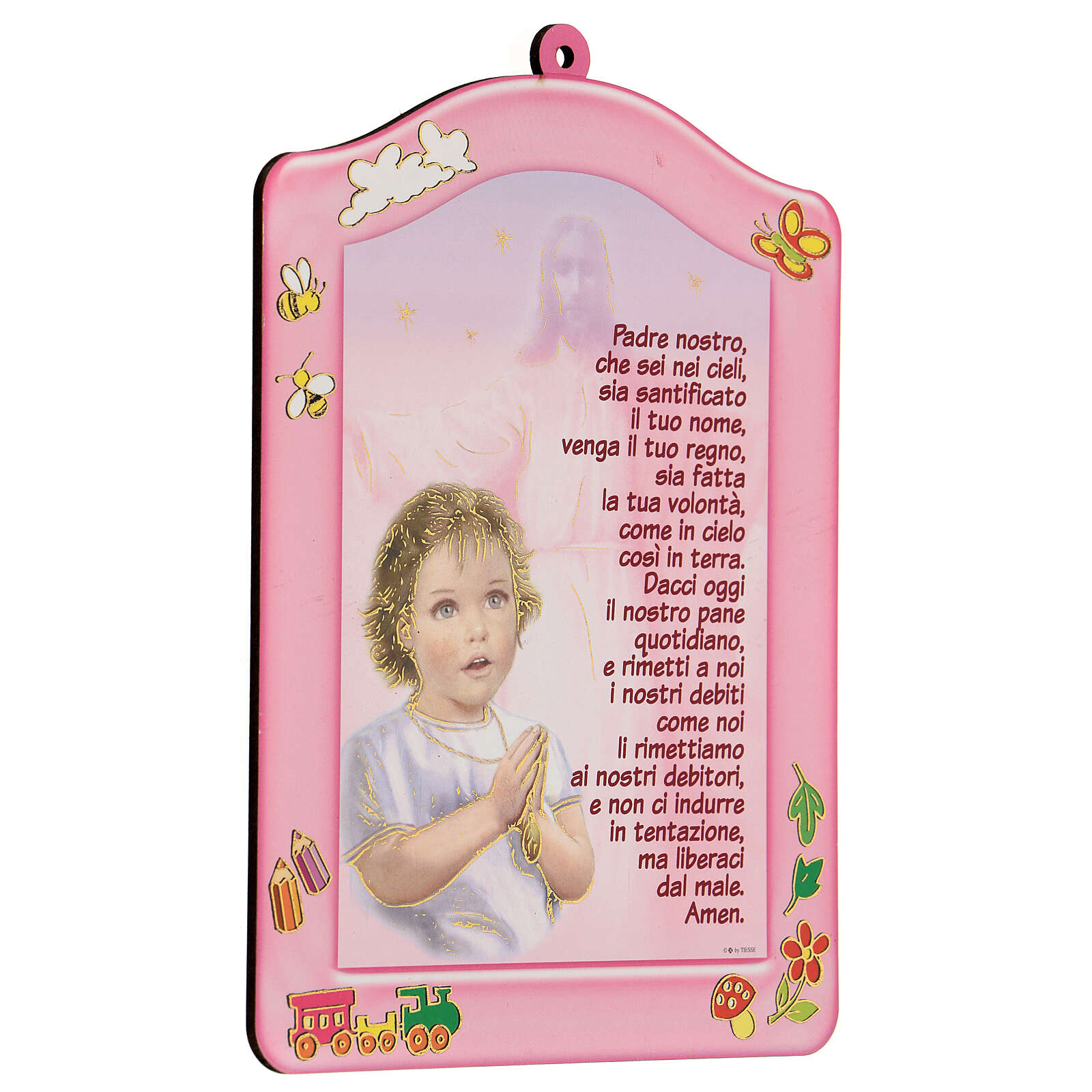 Cuadrito rosa Ave María niña 3