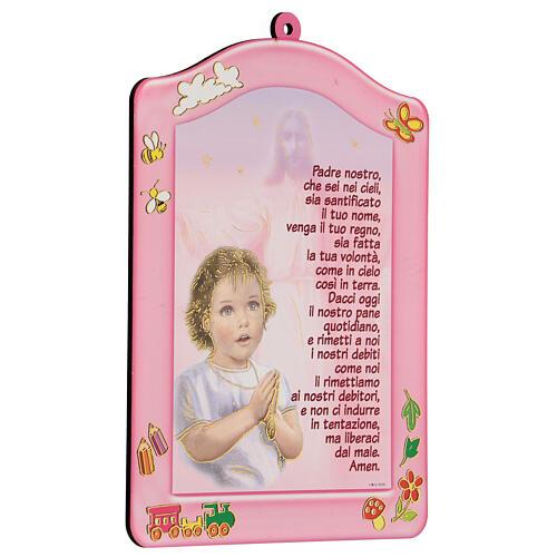Cuadrito rosa Ave María niña 2