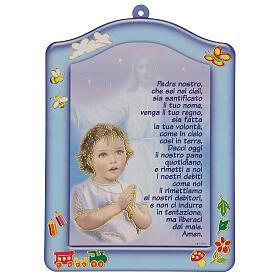 Ricordino bimbo Ave Maria azzurro s1