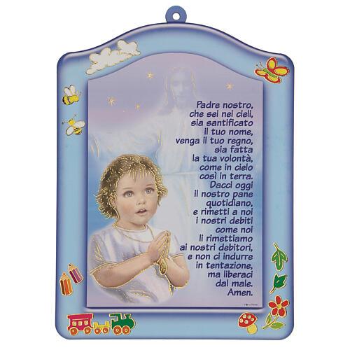 Ricordino bimbo Ave Maria azzurro 1