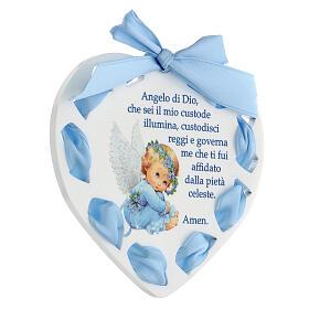 Coeur ruban bleu Ange de Dieu s2