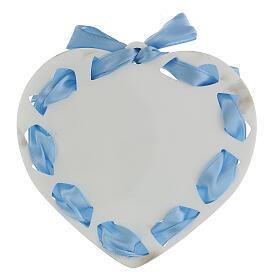 Coeur ruban bleu Ange de Dieu s3