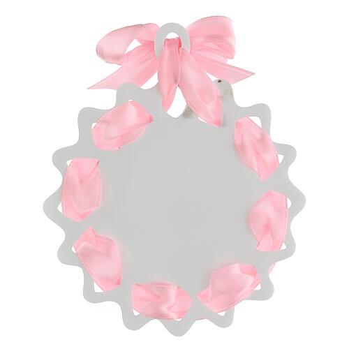 Estrella cinta rosa medalla para cuna oración 3