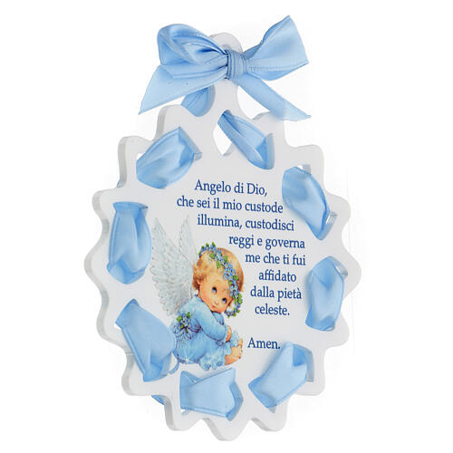 Sopraculla stella nastro azzurro preghiera 2