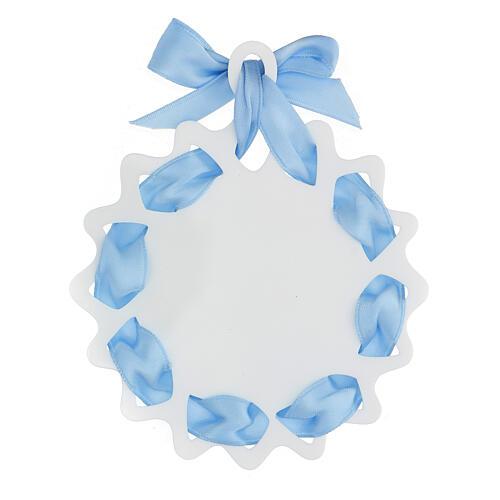 Sopraculla stella nastro azzurro preghiera 3