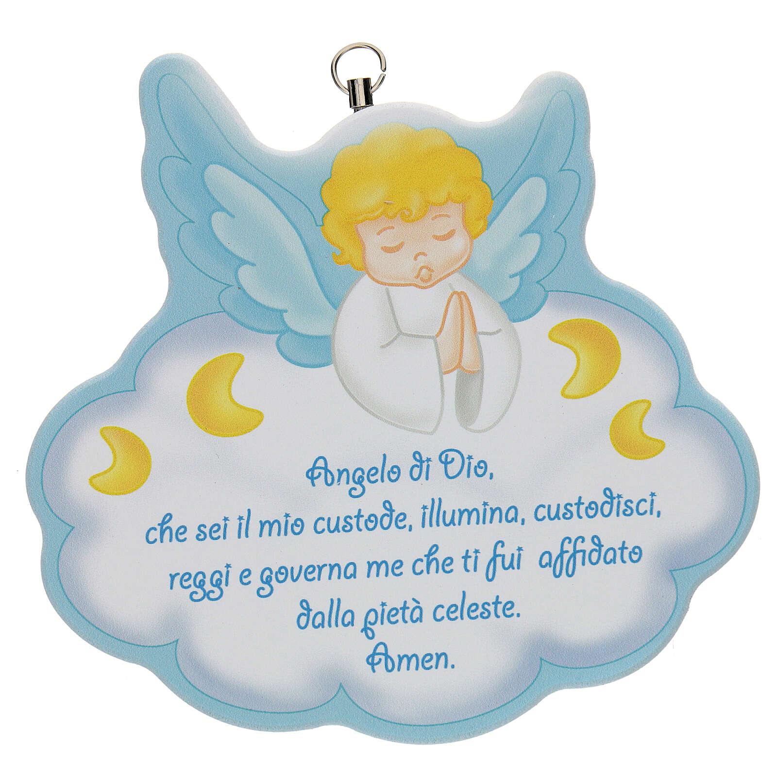 Cuadrito Ángel de Dios azul 3