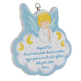 Cuadrito Ángel de Dios azul s2