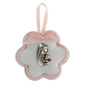 Escarapela flor maternidad rosa s1