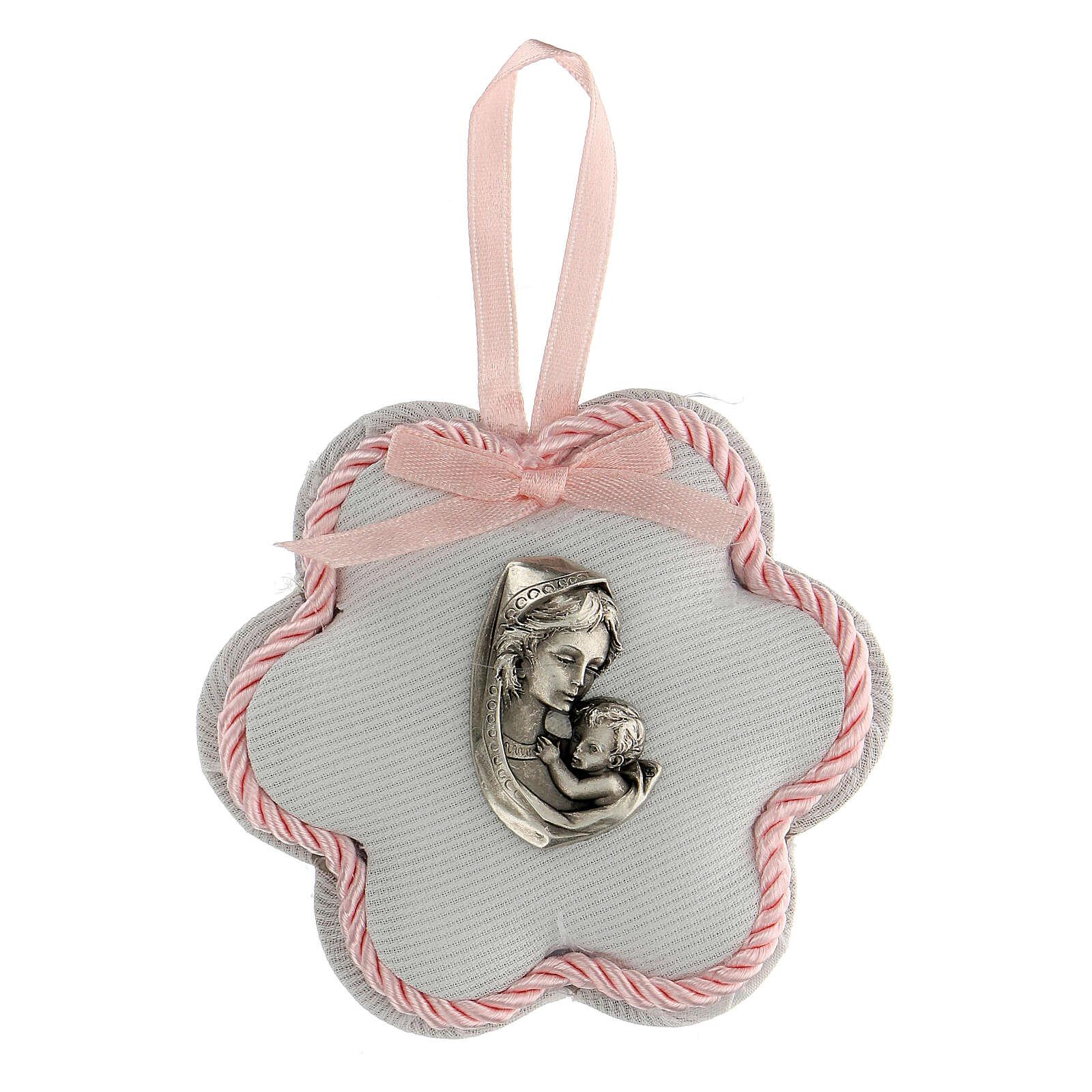 Coccarda fiore maternità rosa 4