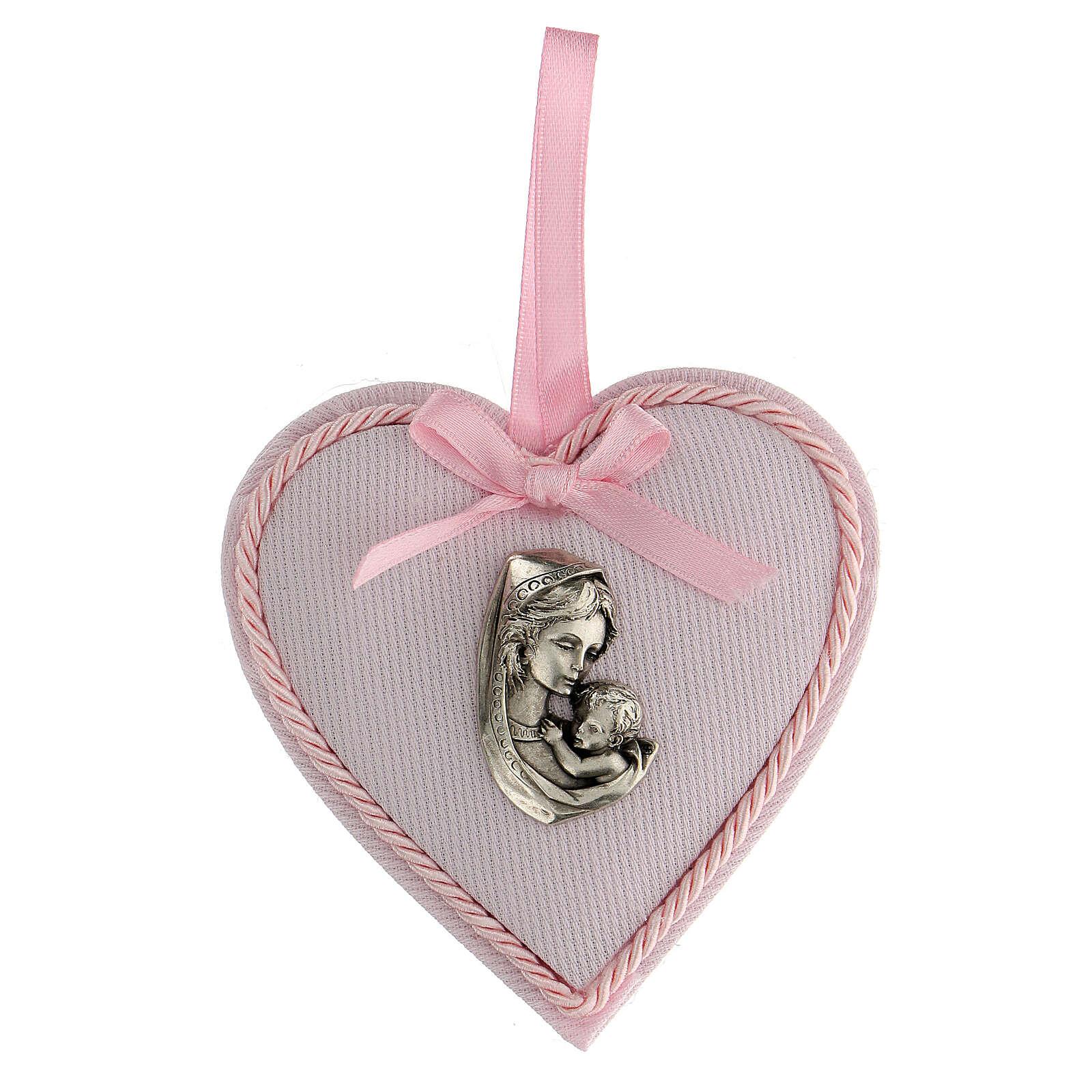 Ricordino cuore coccarda bimba 4