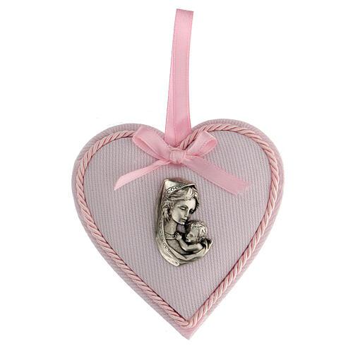 Ricordino cuore coccarda bimba 1