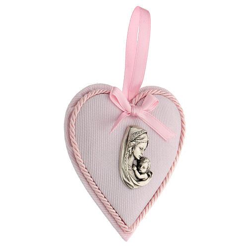 Ricordino cuore coccarda bimba 2