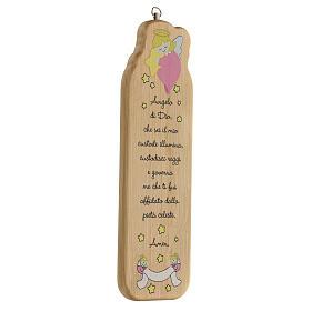 Cuadrito madera oración niña s3