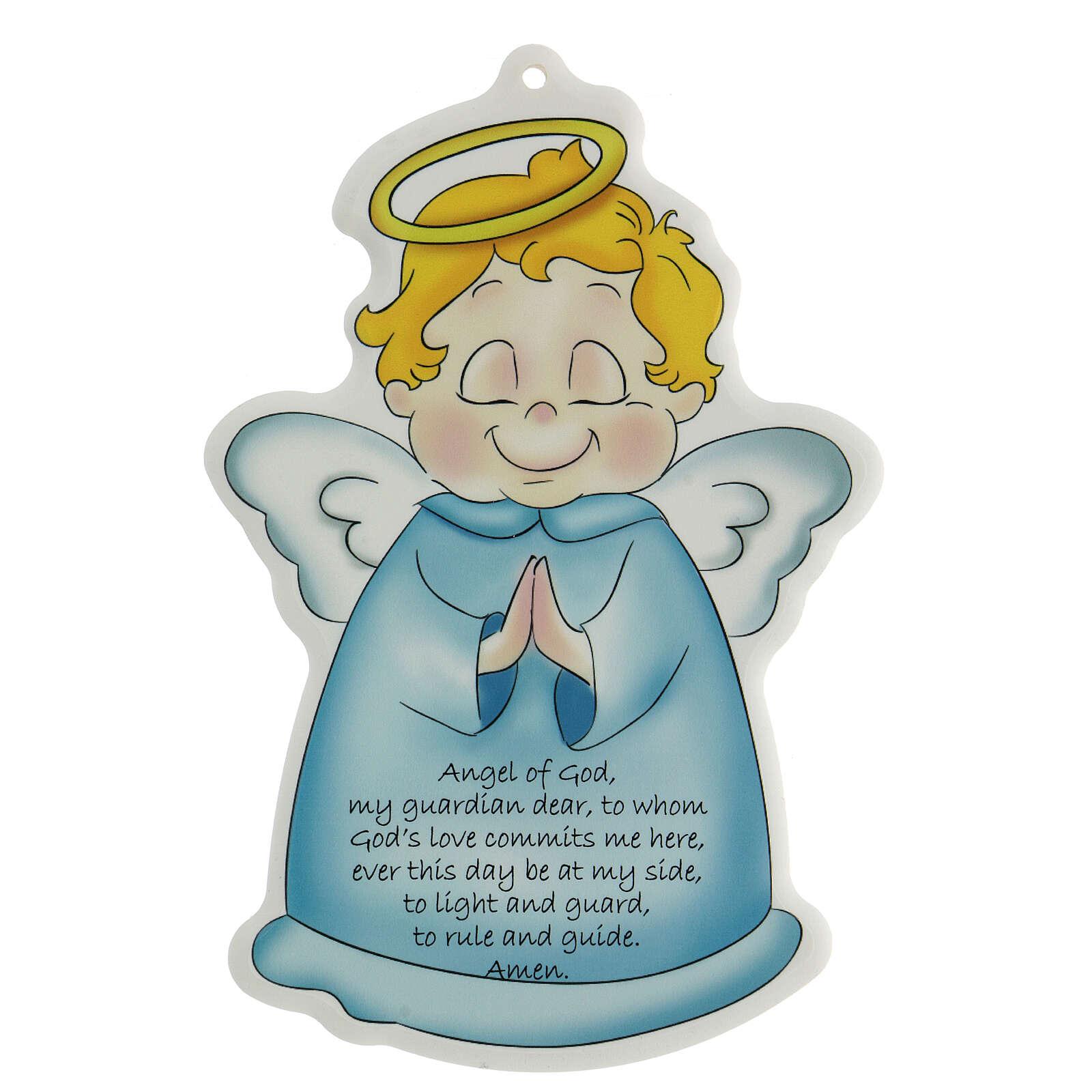 Ange de Dieu sur icône bleue ANGLAIS 3