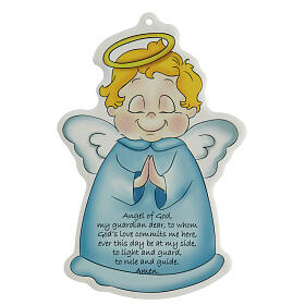 Ange de Dieu sur icône bleue ANGLAIS s1