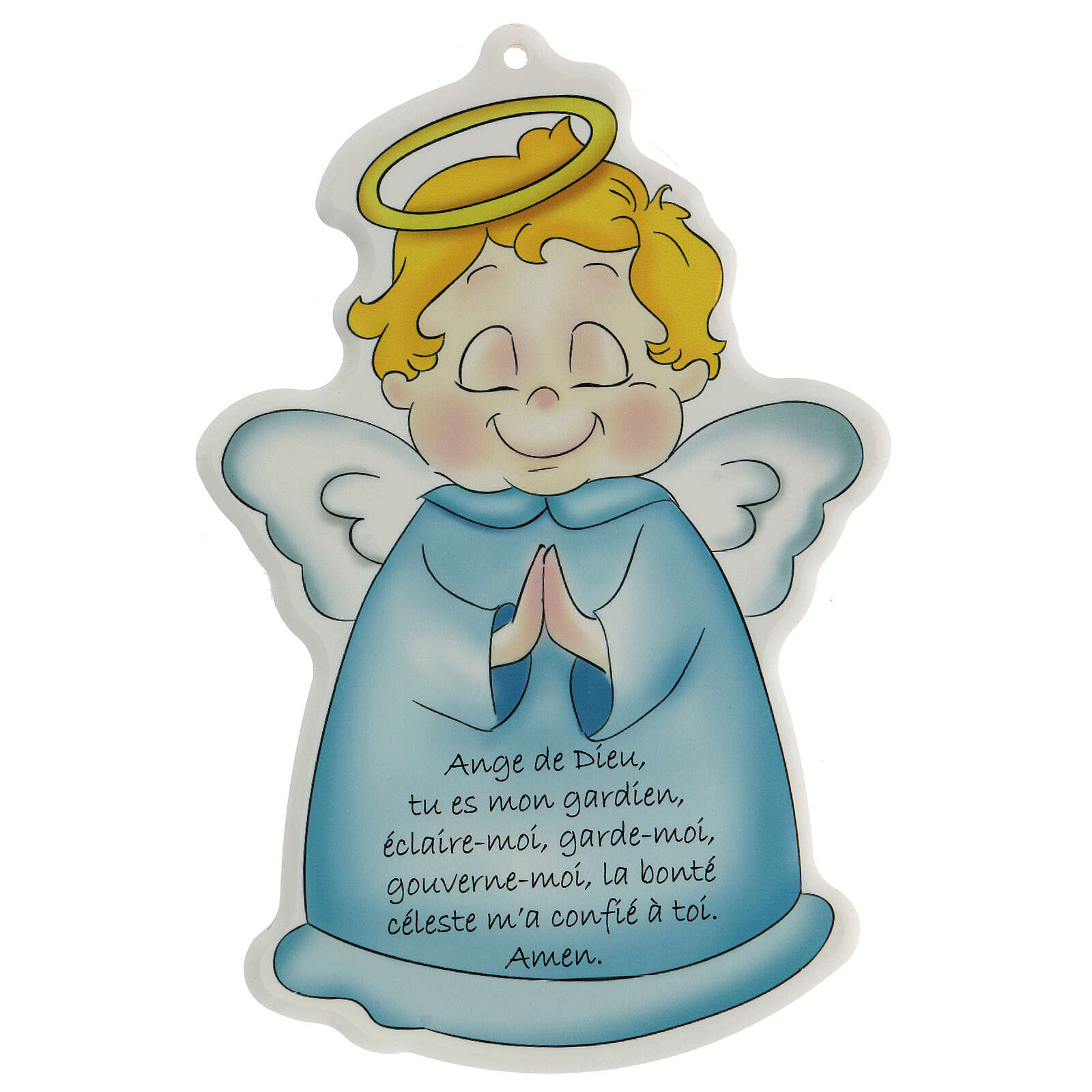 Quadretto sagomato Angelo di Dio francese 3