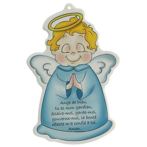 Quadretto sagomato Angelo di Dio francese 1