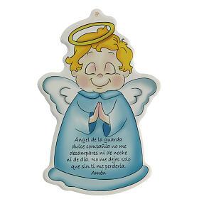 Ange de Dieu sur icône bleue ESPAGNOL s1