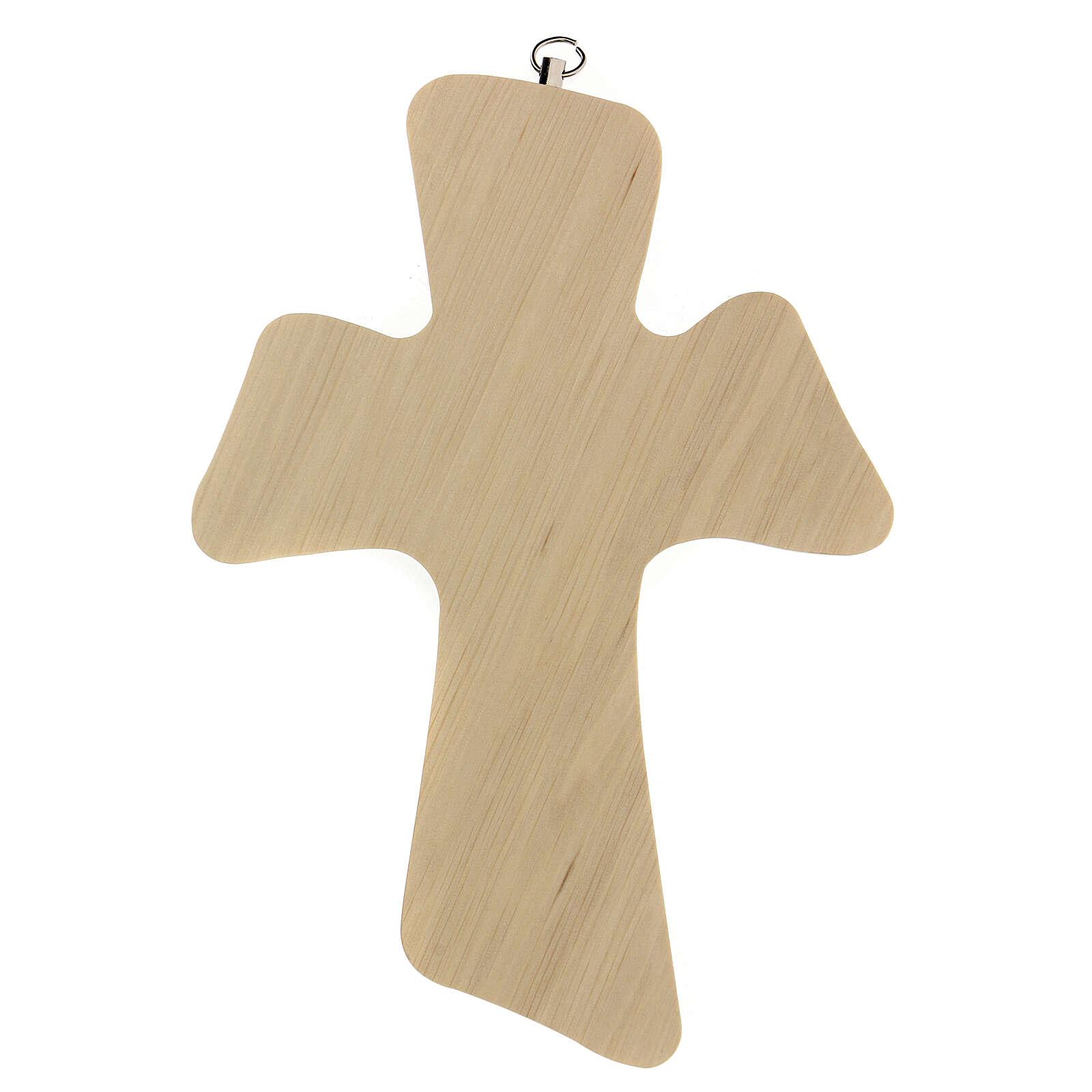Croix bois prière fille 3