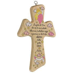 Croix bois prière fille s2