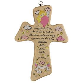 Croce legno preghiera bimba s1