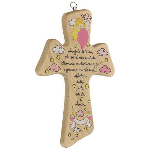 Croce legno preghiera bimba 2