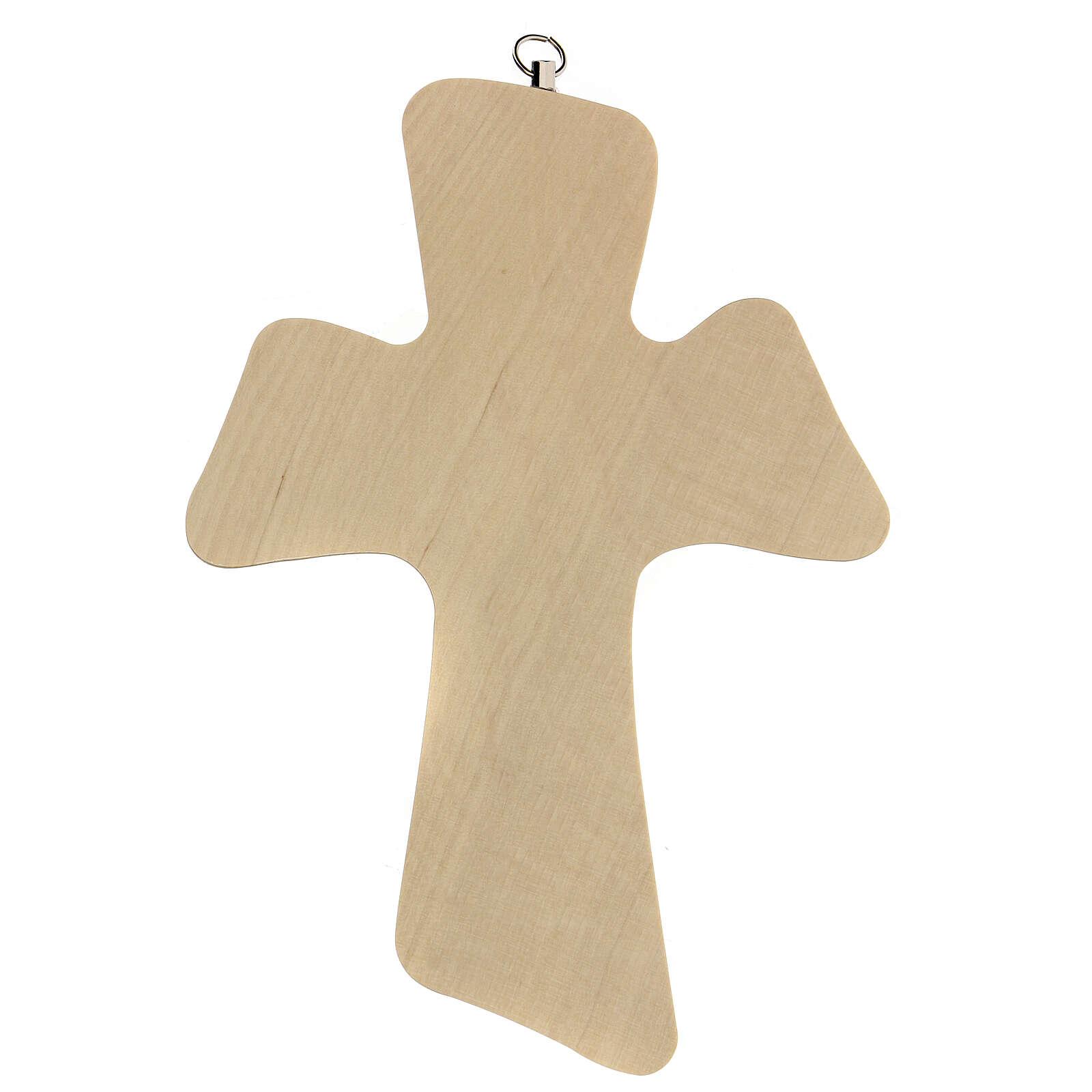 Souvenir croix bois prière garçon 3
