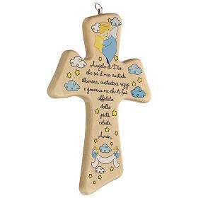 Souvenir croix bois prière garçon s2