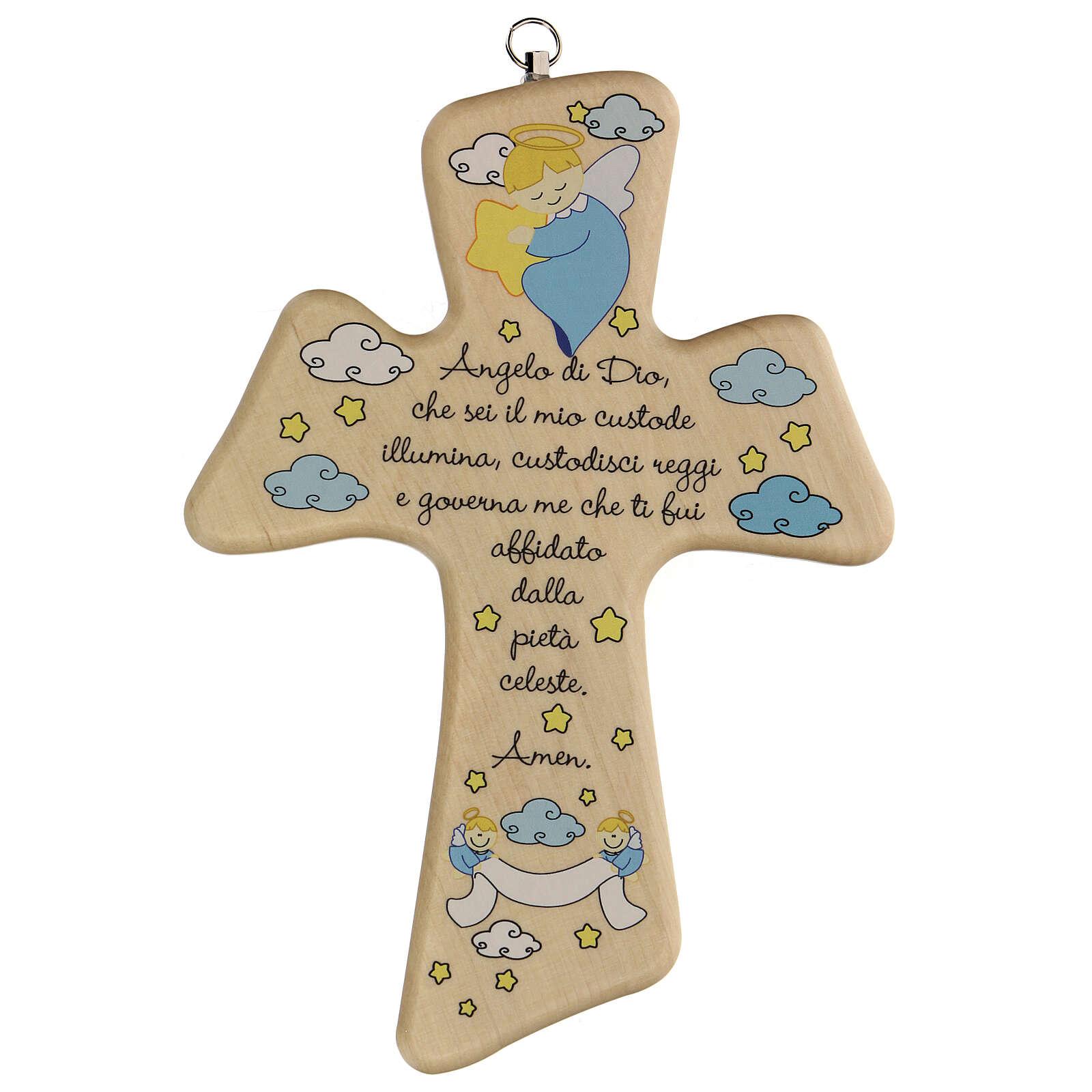 Ricordino croce cartoon preghiera bimbo 3