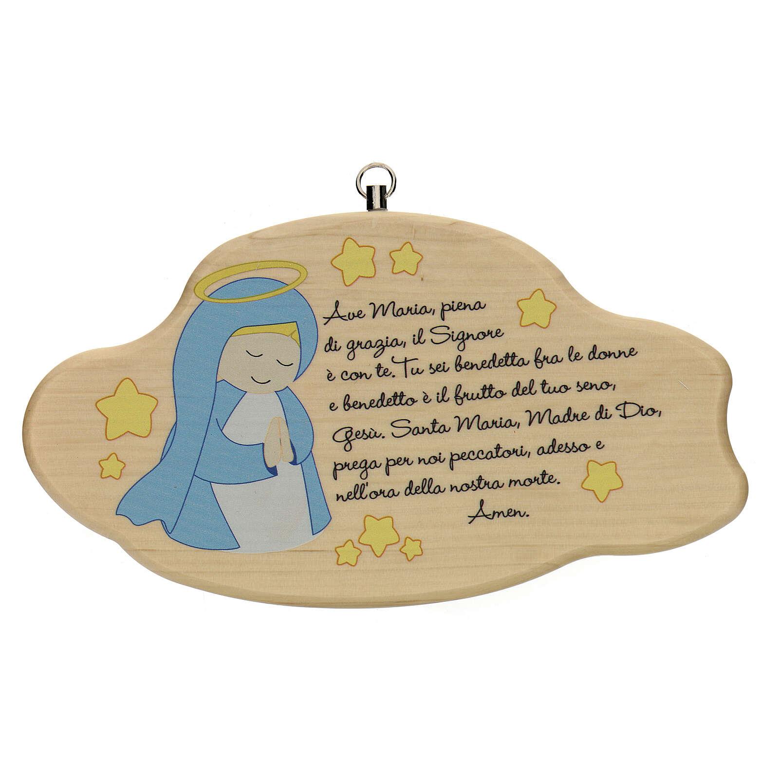 Ave María nube madera niño 3