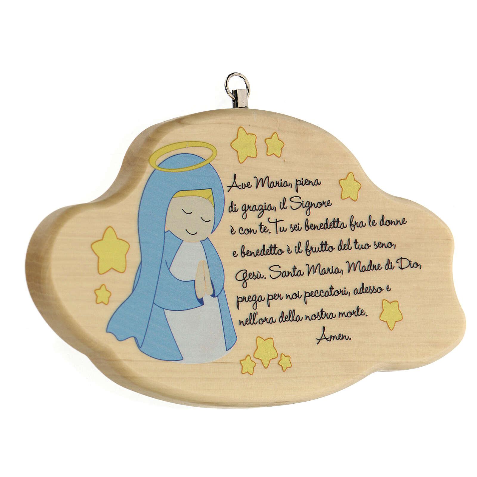 Ave Maria nuvola legno bimbo 3