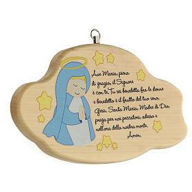 Ave Maria nuvola legno bimbo s2