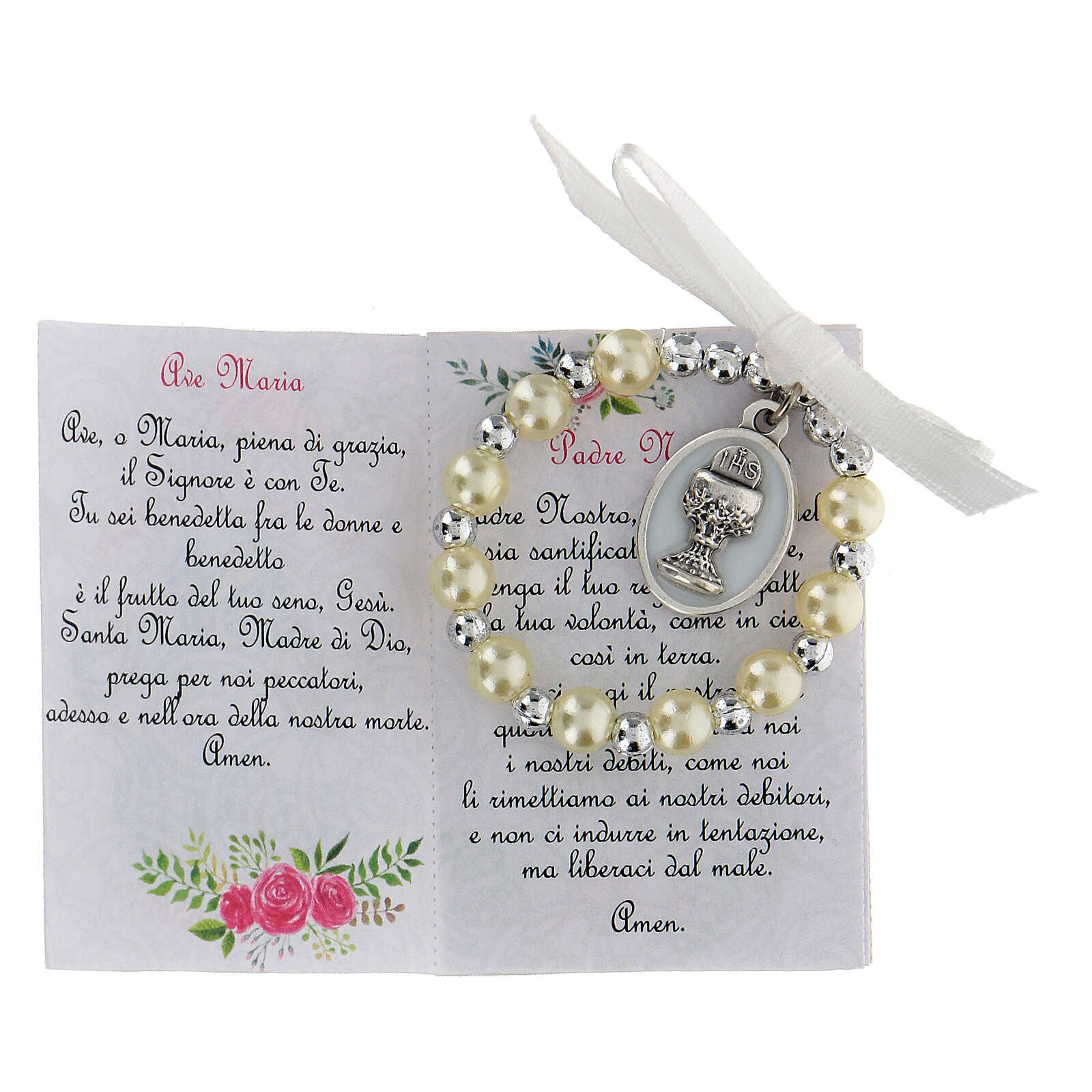 Souvenir box for Communion with rosary and a picture 3